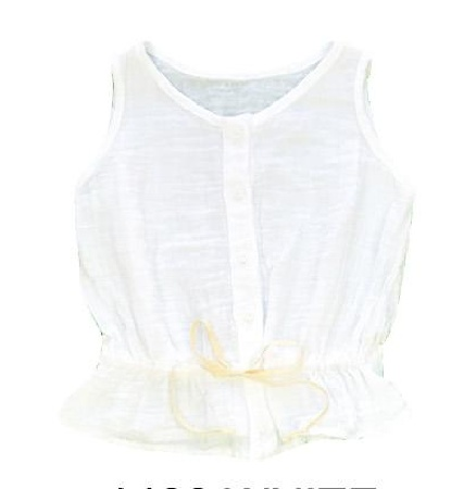 Malu Organic White Gauze Top