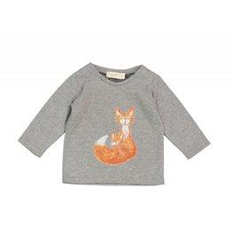 Mademoiselle à Soho Grey tee fox print