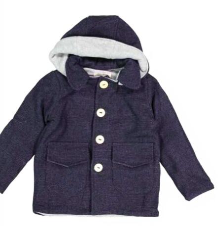 Mademoiselle à Soho Theo's tweed coat