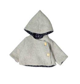 Mademoiselle à Soho Cloud grey chaperon coat