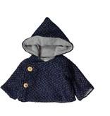 Mademoiselle à Soho Navy tweed chaperon coat