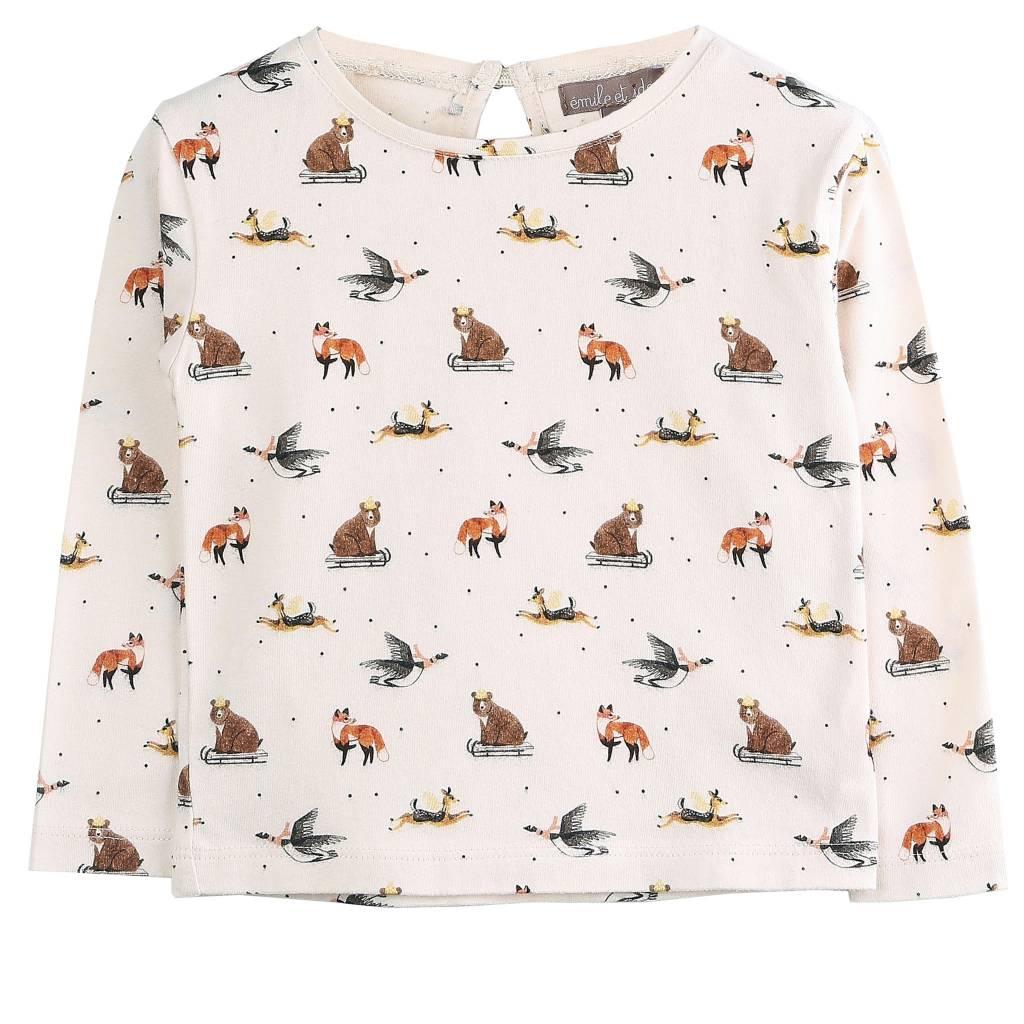 Emile et Ida Animal Sledge tshirt
