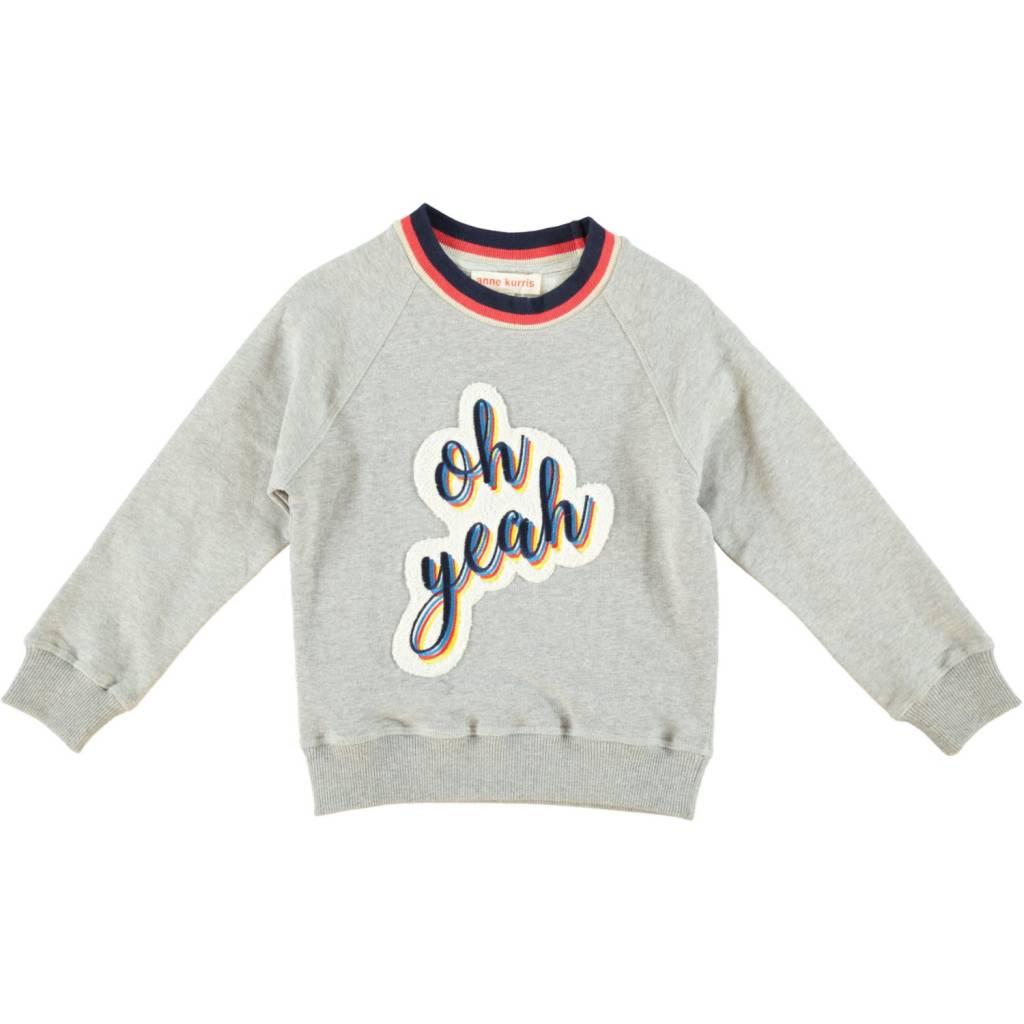 Anne Kurris Sweatshirt boy Oh Yeah grey