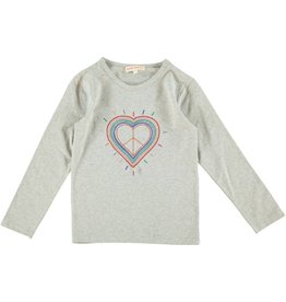 Anne Kurris Tshirt rainbow heart grey