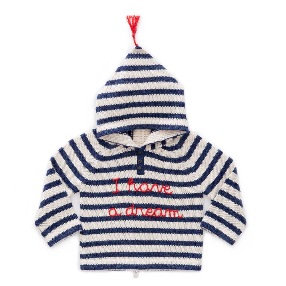 Oeuf Striped Dream Hoodie