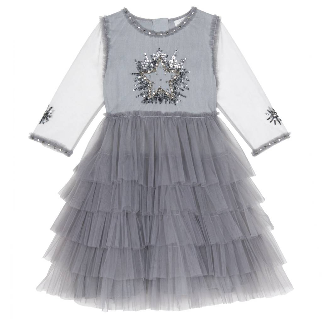 Wild & Gorgeous Moon Dance Dress - Grey