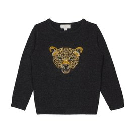Wild & Gorgeous Sequin Leopard Jumper - Black