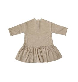 Tambere Beige Ruffle Dress