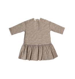 Tambere Mocha Beige Ruffle Dress