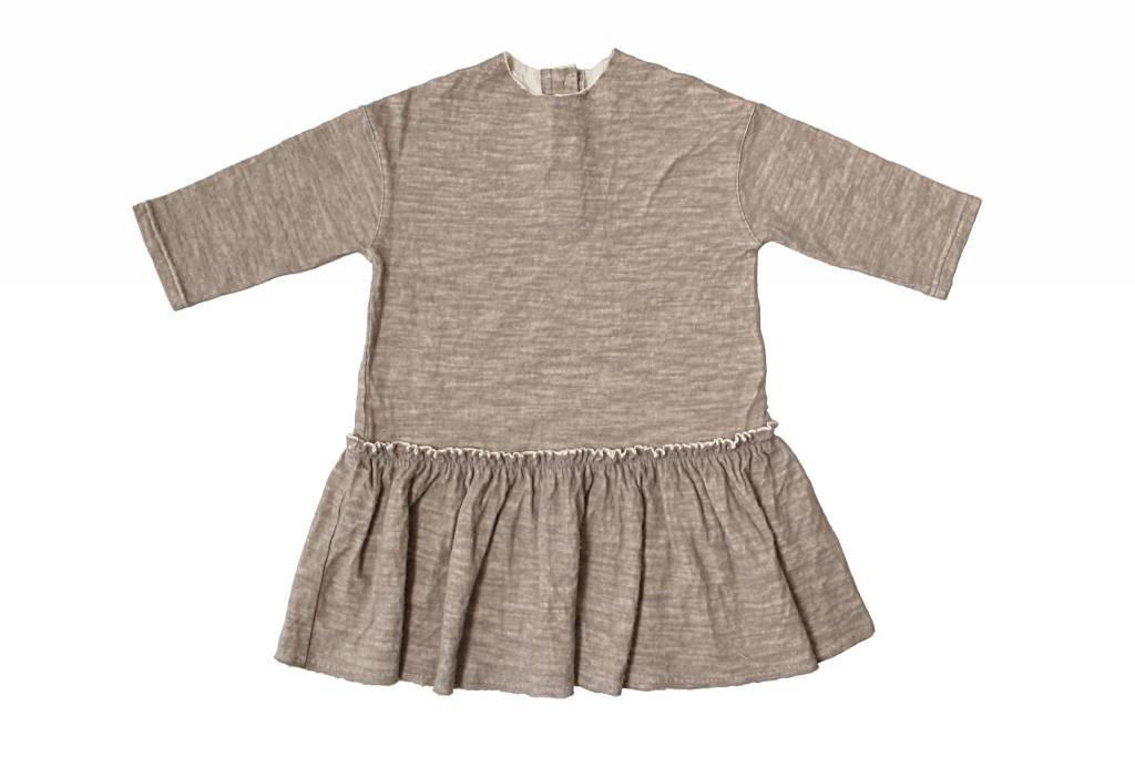Tambere Mocha Beige Ruffle Dress