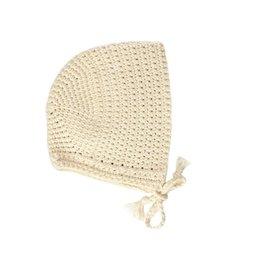 minikane Crochet White Doll Bonnet