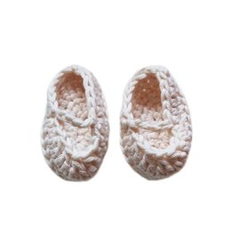 minikane Crochet White Doll Slippers