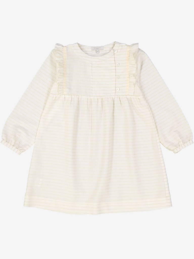 Petite Lucette Martine dress golden stripes
