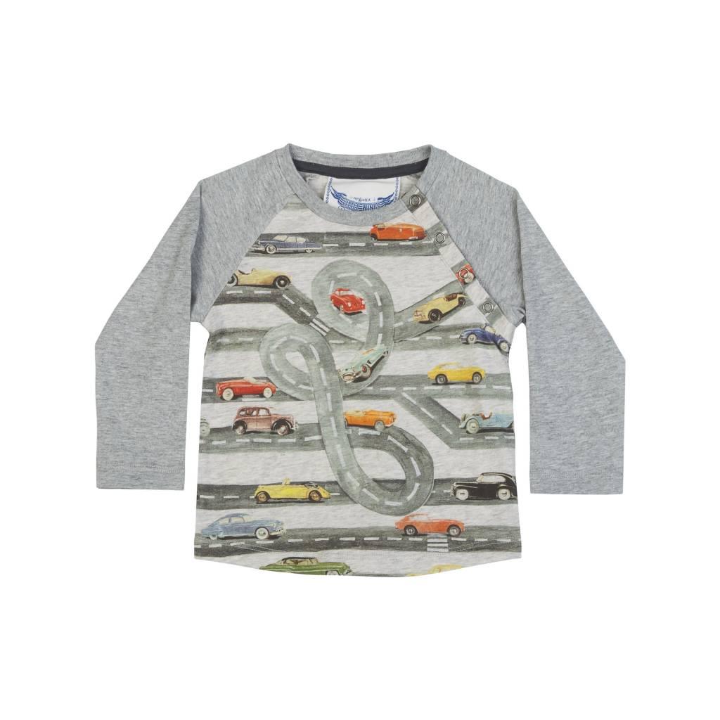 Paper Wings Baby Raglan Car Shirt