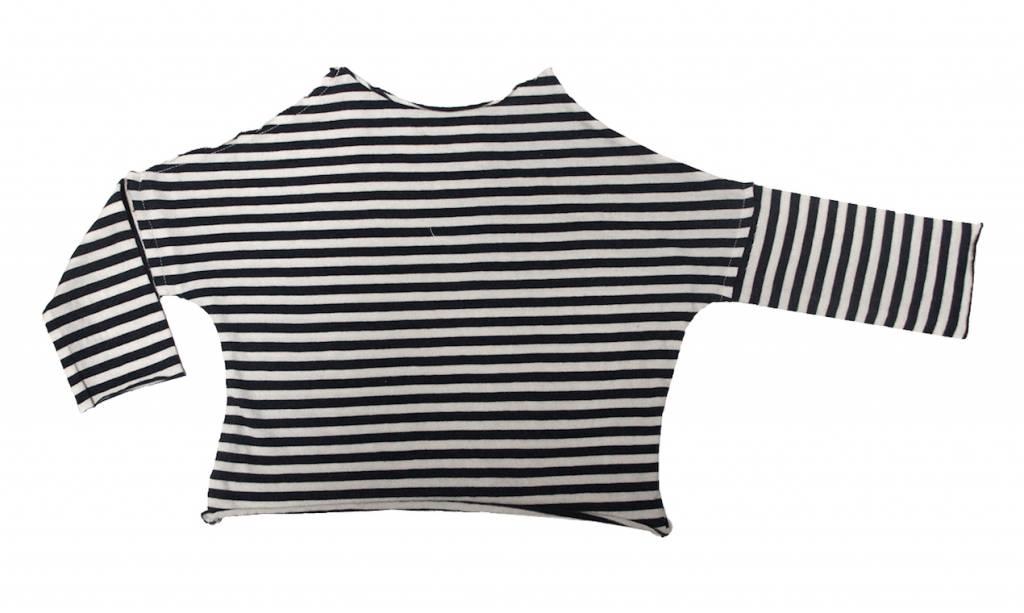 Go Gently Navy Stripe Tee Pull