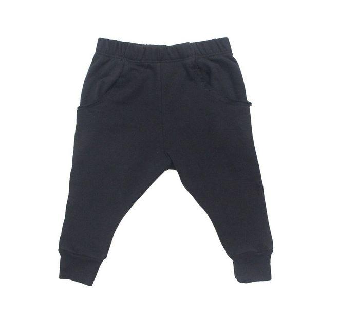Go Gently Baby Black Raw Pocket Pant