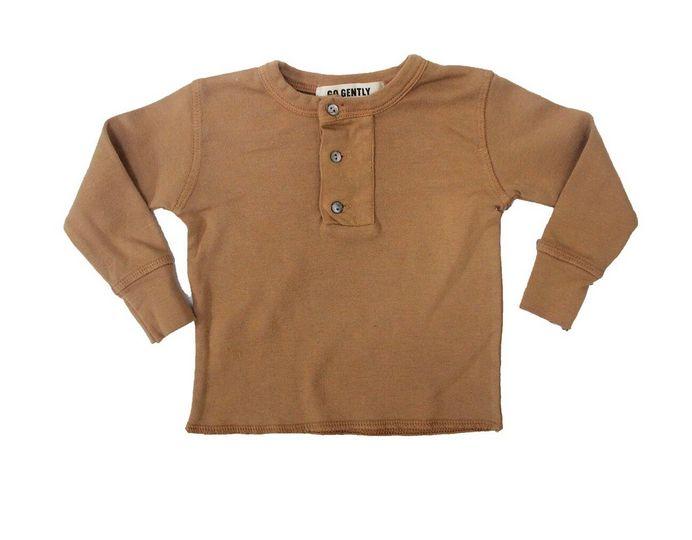 Go Gently Henley Flax shirt