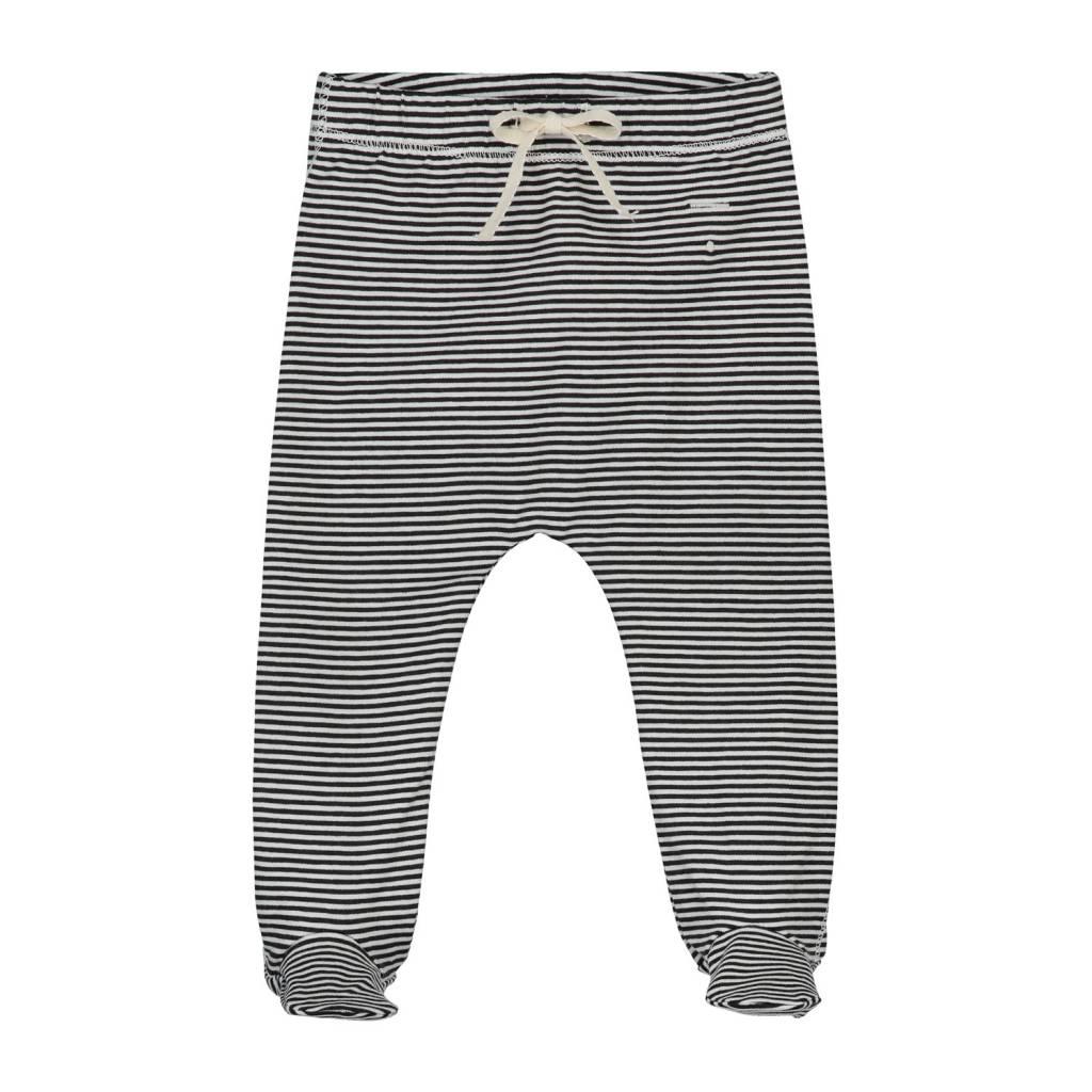 Gray Label Footies black/cream stripe