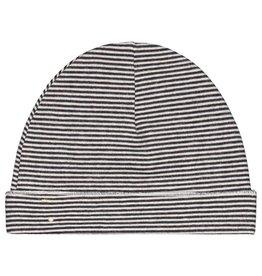 Gray Label Baby Beanie black/cream stripe