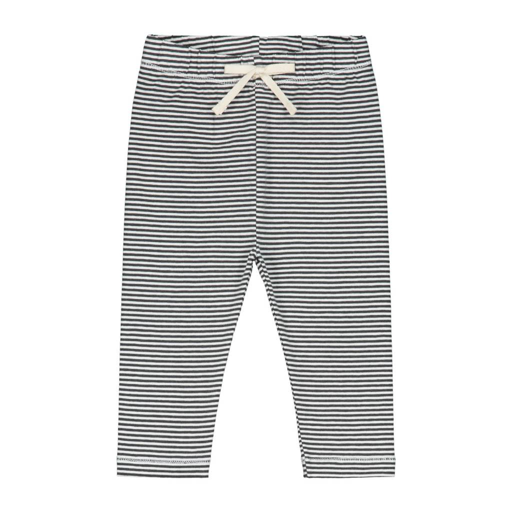 Gray Label Baby leggings black/cream stripe