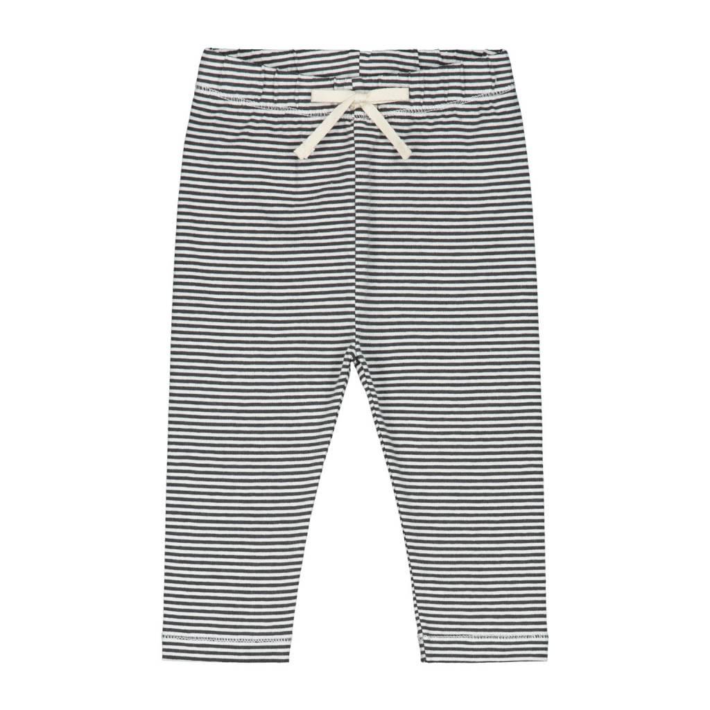 Gray Label Baby leggings black/cream stripe