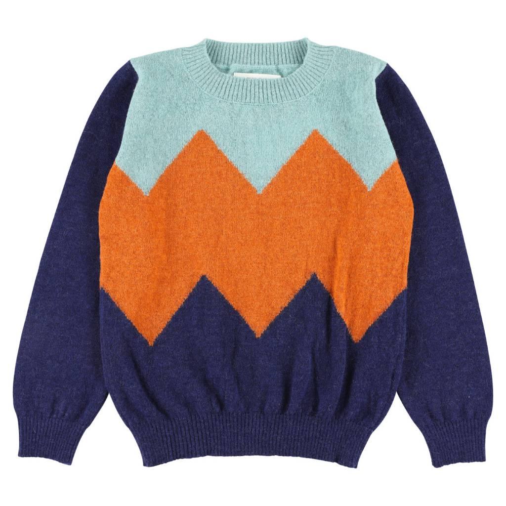 Aymara Carrot/indigo jumper ABC