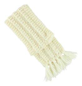 Aymara Hand-knit Maywa scarf Ecru