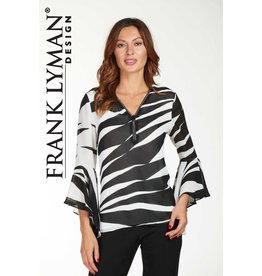 Frank Lyman Frank Lyman Blk Animal Top