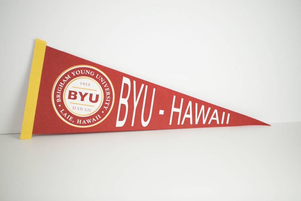 BYUH PENNANT RED/YELLOW AMSTERDAM