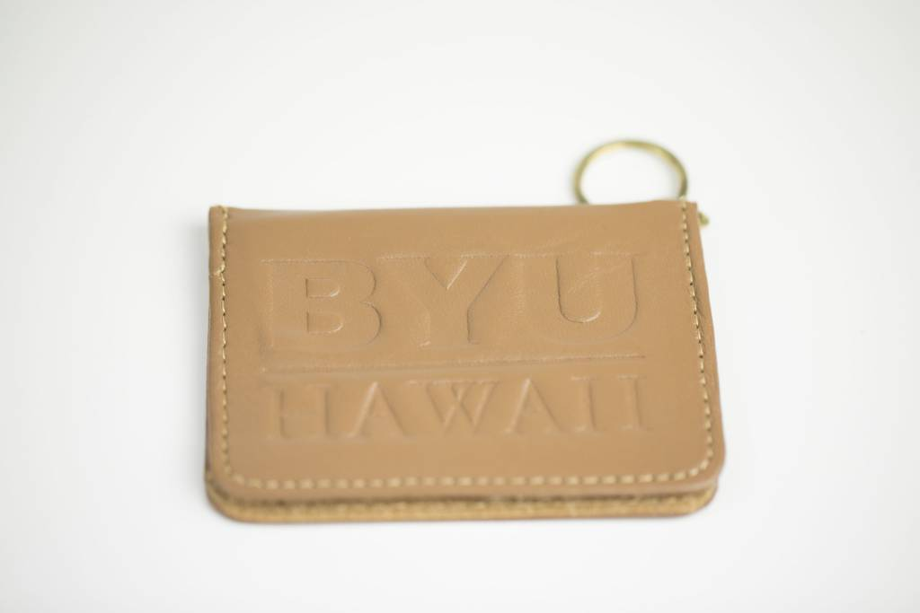 DISC LEATHER PASS KEY CASE TAN