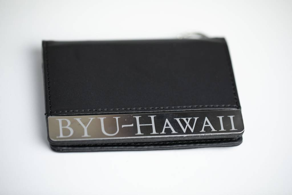 BYUH DELUXE PASS KEY CASE BLACK