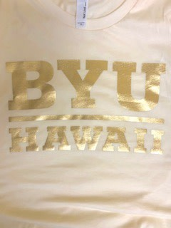 BYU HAWAII GOLD FOIL IVORY