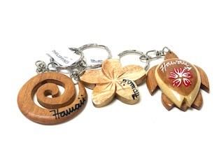 Wood/Coconut Assorted Key Chain