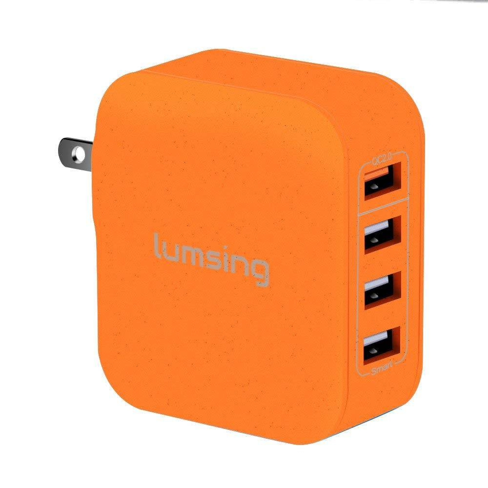 Lumsing Quick Charge Multi-port USB wall charger (orange)