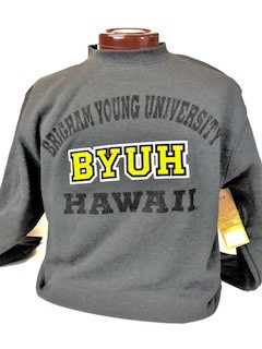 BYUH CAMPBELL CREW CHARCOAL