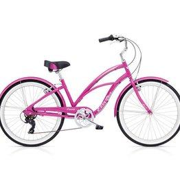 "Electra Cruiser Lux 7D Ladies Pink Sparkle 26"" - 2018"