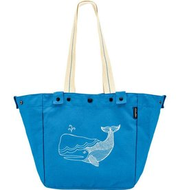 Electra Basket Tote Bag Whale Blue