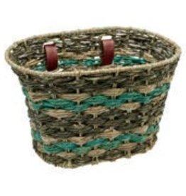 Electra Basket Woven Natural Espresso Seafoam