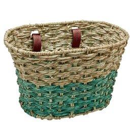 Electra Basket Woven Natural Seafoam
