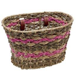 Electra Basket Natural Espresso Pink