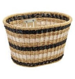 Electra Basket Plastic Woven Light Brown/Black/White