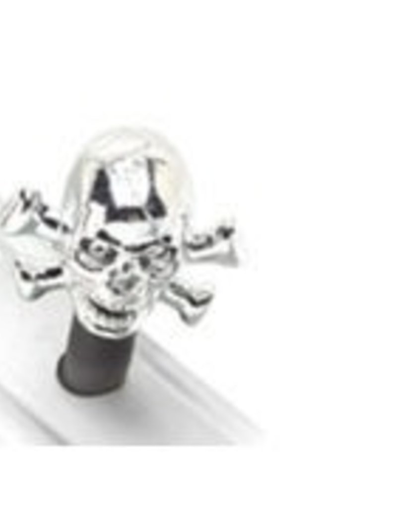 Electra Valve Caps Silver Skulls