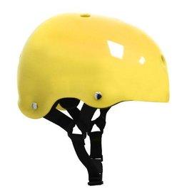 Helmet - Translucent Yellow w/ Black Strap  - Medium