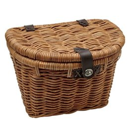 BASKET ELECTRA RATTAN WOVEN W/LID NATURAL
