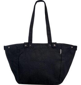 BAG ELECTRA WAXED CANVAS BASKET BAG BLACK