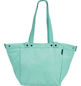 BAG ELECTRA WAXED CANVAS BASKET BAG AQUA