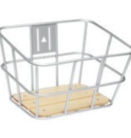 Electra Basket Alloy with Wood Front - Silver