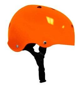 Helmet - Gloss Orange w/ Black Strap - Small