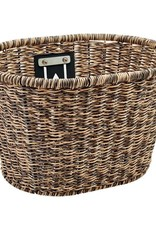 Electra Basket Plastic Woven Light Brown/Black