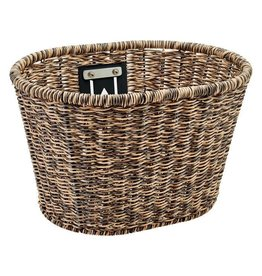 Electra Basket Plastic Woven Light Brown/Black